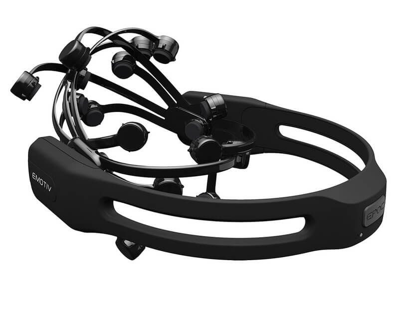 Picture of the 14 channel EEG Headset Epoc plus from Emotiv